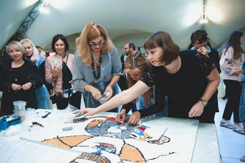 Командная мозаика тимбилдинг корпоративное мероприятие организация в москве